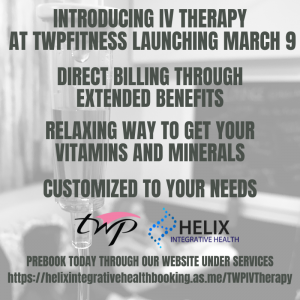 IV Therapy Launching March 9