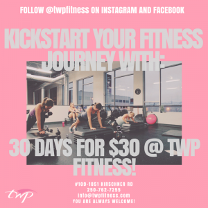 30 Day's For $30 @ TWP Fitness