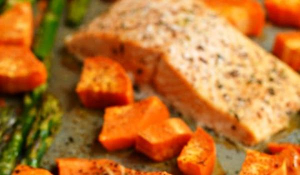 Baked Salmon with Sweet Potato